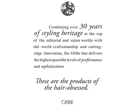 Oribe Hair Care Text Poster